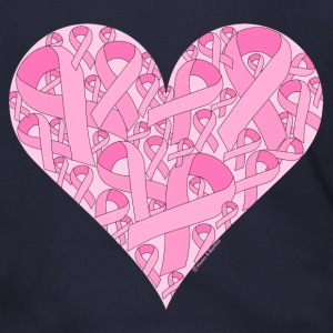 Pink Ribbon Heart Zip Hoodies/Jackets - Men's Zip Hoodie