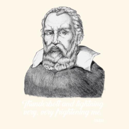 Galileo Quotes - Thunder & Lightning - White Print