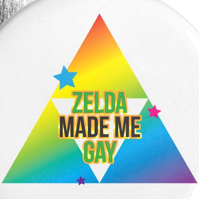 Zelda Made Me Gay pins
