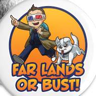 Design ~ Far Lands or Bust Buttons 5-Pack