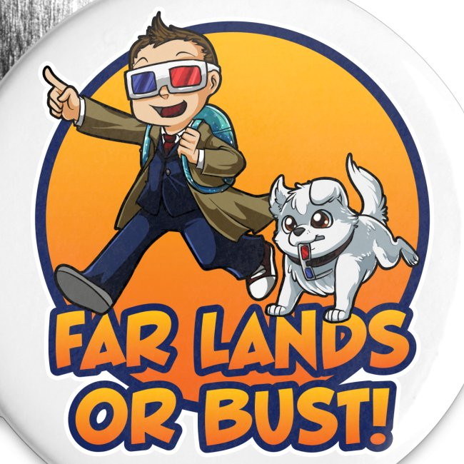 Far Lands or Bust Buttons 5-Pack