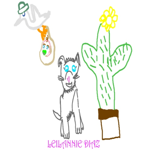 stork dog cactus