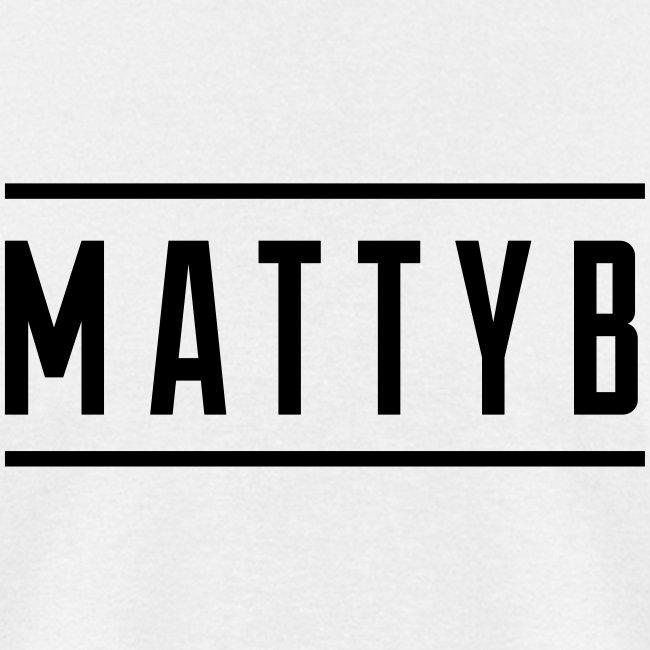 Adult White MattyB Logo
