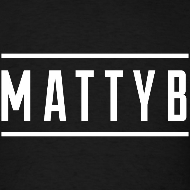 Adult Black MattyB Logo