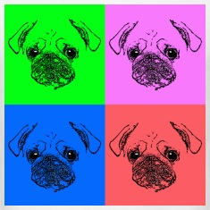 "Men's ""Pug Pop Art"" T-Shirt"