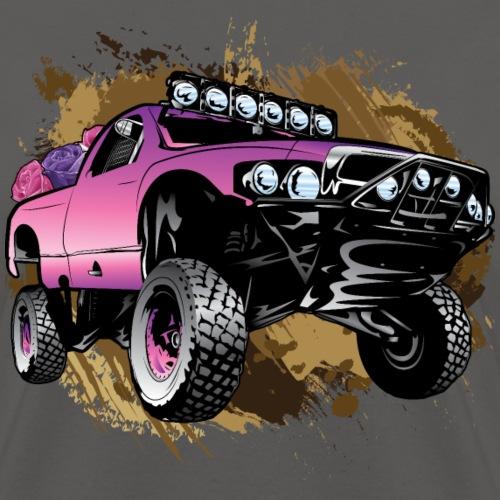 Muddy Pink  Race Truck