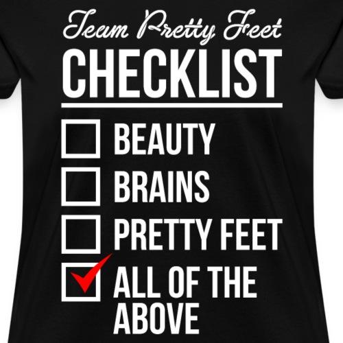 TEAM PRETTY FEET CHECKLIST (White Text)