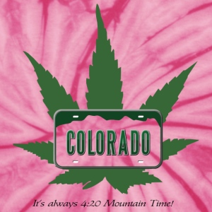 Colorado:  It's always 4:20 Mountain Time! T-Shirts - Unisex Tie Dye T-Shirt