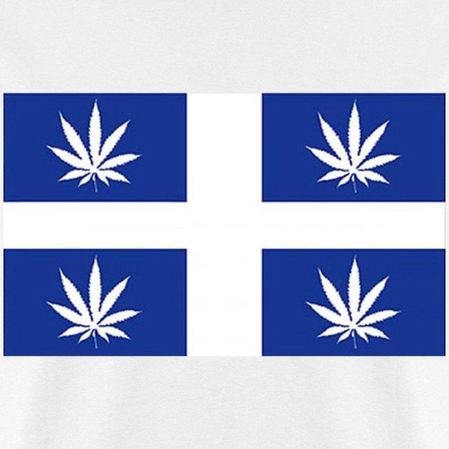 Drapeau du Québec en feuilles de pot