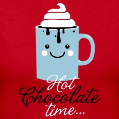 i heart hot chocolate winter holiday food t-shirts Long Sleeve Shirts