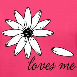Loves romantic flower valentine's love valentine Women's T-Shirts - Women's V-Neck T-Shirt