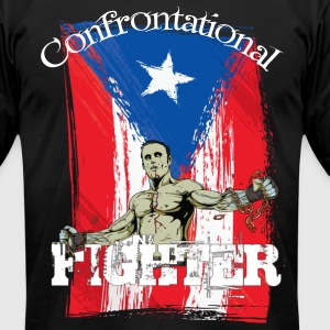 MMA Puerto Rico - Fighter T-Shirts - Men's T-Shirt by American Apparel