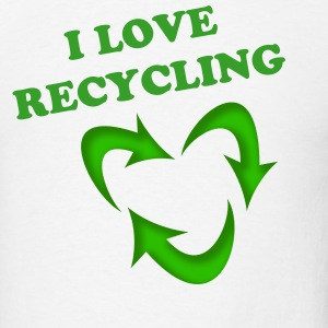 I love Recycling - Men's T-Shirt