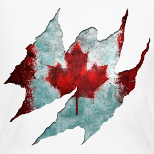 Canadian Flag Tear - Women's Long Sleeve Jersey T-Shirt
