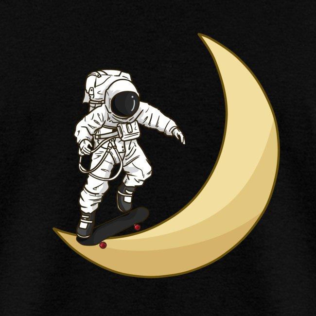Skateboarding on the moon