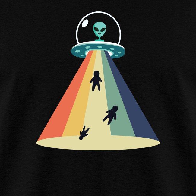 Retro Alien UFO Abduction