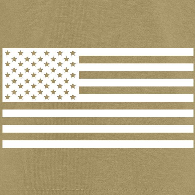 USS REAGAN CVN-76 STRIPE TEE w/ USA FLAG SLEEVE PRINT