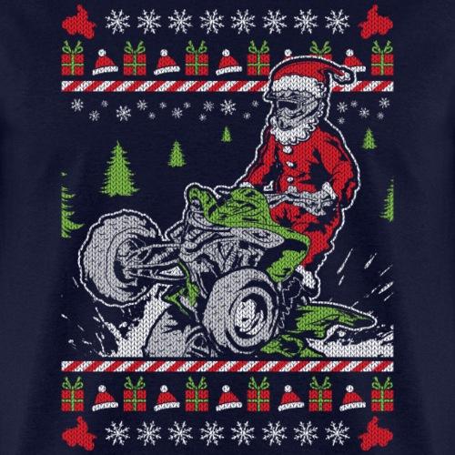 ATV Santa Christmas Quad