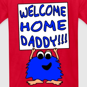 Welcome Home Daddy Monster 2 Blue SS Tee - Kids' T-Shirt
