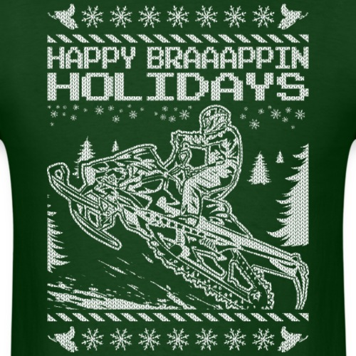 Snowmobile Happy Holiday