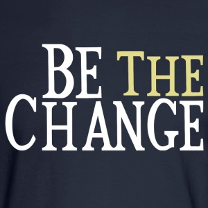 Be The Change Gandhi Long Sleeve Shirts - Men's Long Sleeve T-Shirt