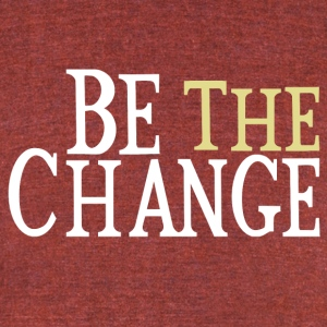 Be The Change Gandhi T-Shirts - Unisex Tri-Blend T-Shirt