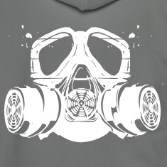 gas mask Zip Hoodies/Jackets