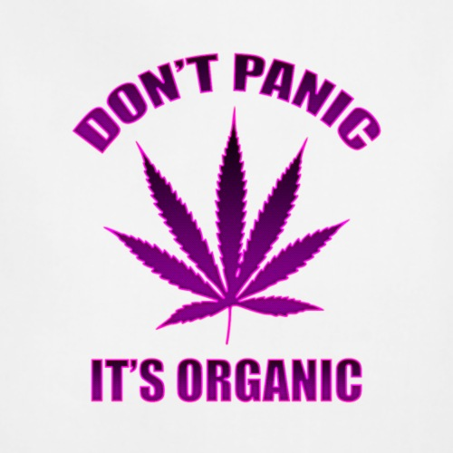 Don't panic it's Organic Cannabis Leaf Purple Logo