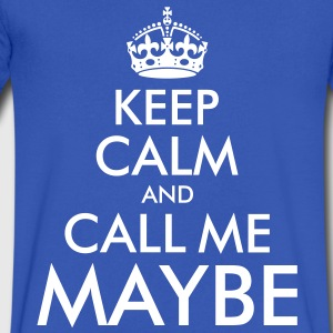 Kepp Calm and Call Me Maybe T-Shirts - Men's V-Neck T-Shirt by Canvas
