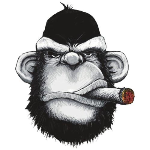 Gorilla Smoking Cigar
