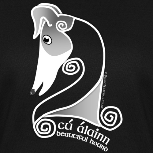 Celtic hound head white