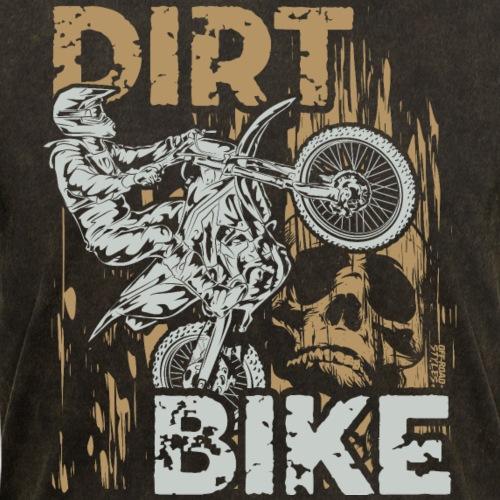 Dirt Bike Skull Wheelie