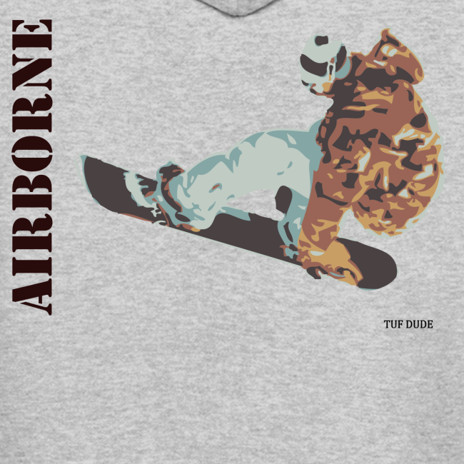 Snowboarding Airborne Hoodie (Back)