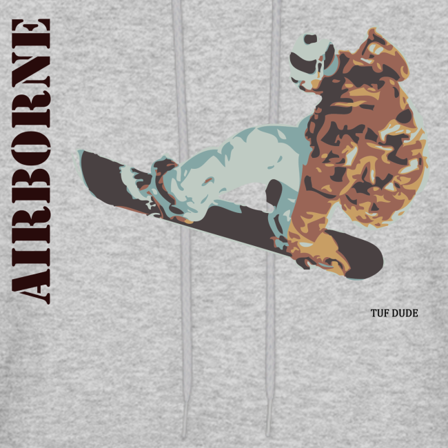 Snowboarding Airborne Hoodie (Front)