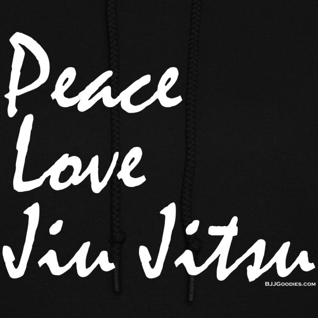 Peace Love Jiu Jitsu - Womens Hoodie - wb  Front