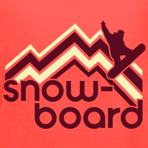 snowboard Tanks - Women's Flowy Tank Top by Bella