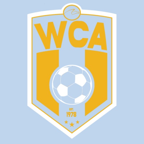 WCA Soccer logo on dark
