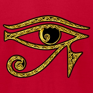 Eye of Horus reverse Moon eye of Thot  I T-Shirts - Men's T-Shirt by American Apparel