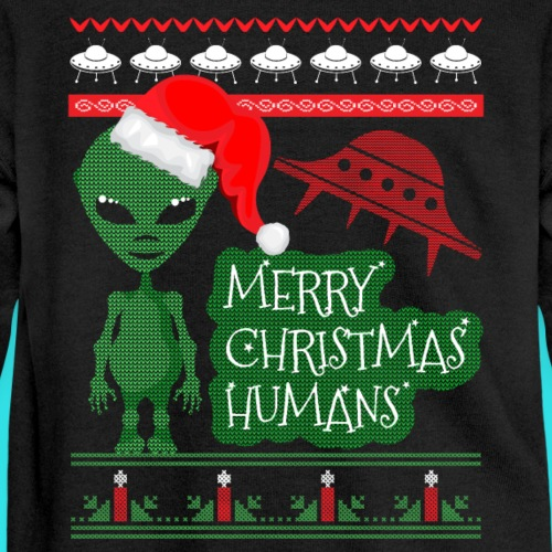 Alien UFO Sci Fi Ugly Christmas Sweater Shirt
