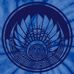 Crop circle - Vector- Mayan mask - Silbury Hill 2009 - Quetzalcoatl - Native Americans - Aztec - Venus - 2012 - New Age / T-Shirts - Unisex Tie Dye T-Shirt