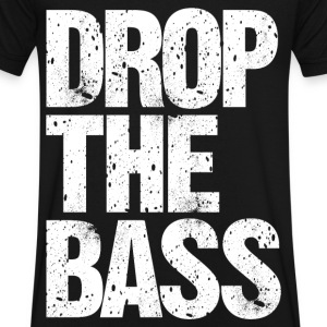 DROP THE BASS (white) T-Shirts - Men's V-Neck T-Shirt by Canvas