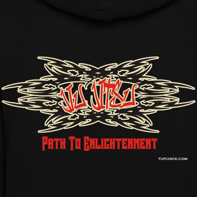 Tuf Chick Women's Jiu Jitsu Path To Enlightenment Graffiti Hoodie