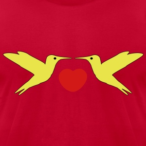 Hummingbirds in Love T-Shirts - Men's T-Shirt by American Apparel