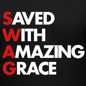 Saved With Amazing Grace (SWAG) - Women's V-Neck T-Shirt