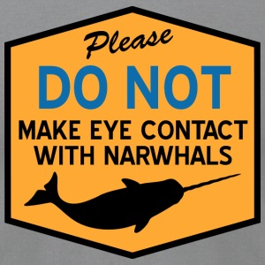 Eye Contact with Narwhals T-Shirts - Men's T-Shirt by American Apparel