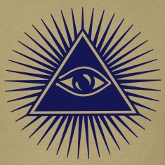 all seeing eye of god - symbol Supreme Being T-shirts (manches courtes)
