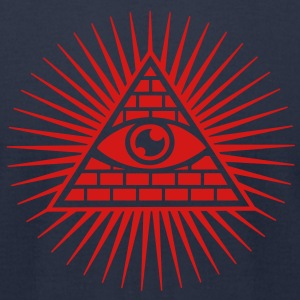 Eye in the Pyramid - symbol of Omniscience T-Shirts - Men's T-Shirt by American Apparel