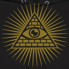 Eye in the Pyramid - symbol of Omniscience Hoodies