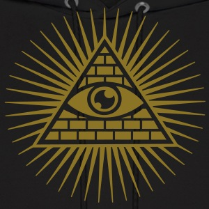 Eye in the Pyramid - symbol of Omniscience Hoodies - Men's Hoodie