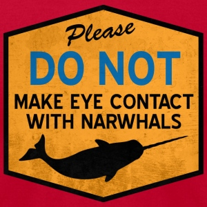 Eye Contact with Narwhals - Vintage T-Shirts - Men's T-Shirt by American Apparel